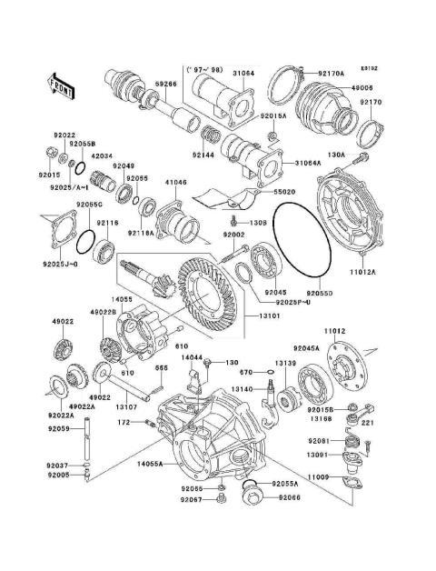 98 Kawasaki 300 Bayou Wiring Diagram