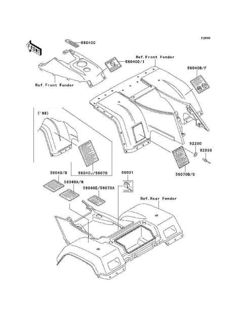 Parts Finder 1998 Kawasaki Atvs
