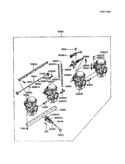 Kawasaki Bayou 220 Carburetor Diagram 1998