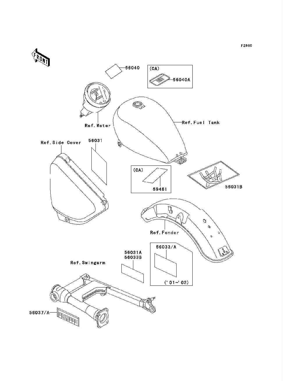 Parts Finder 2001 Kawasaki Motorcycles Vanderzee Motorplex In Vn750 Headlight Wiring Diagram South Haven Mi