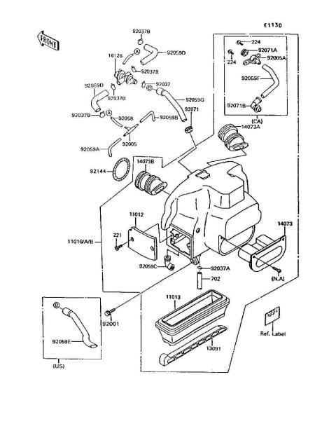 Kawasaki F7 Wiring Diagram