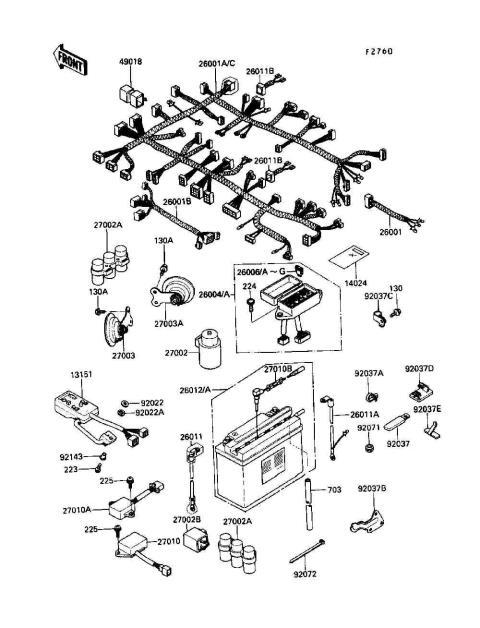 Electrical Wiring Diagram Kawasaki 1300 Voyager