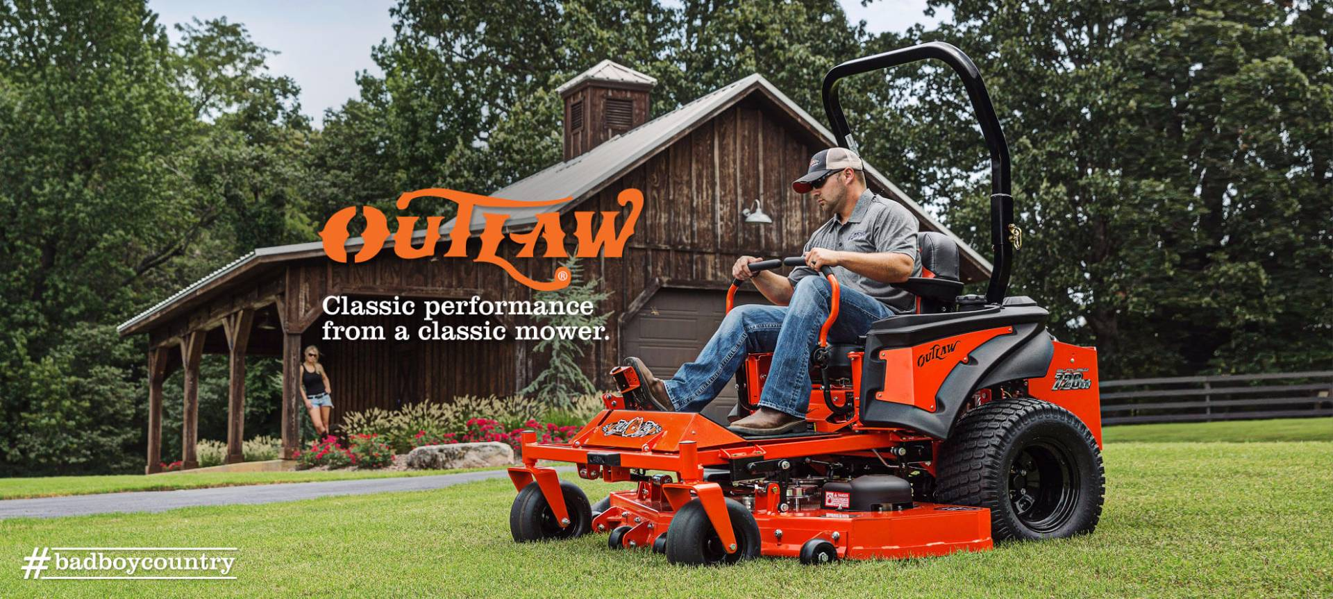 "2017 Bad Boy Mowers Outlaw 54"" with Kawasaki FX730V in Saucier, Mississippi"