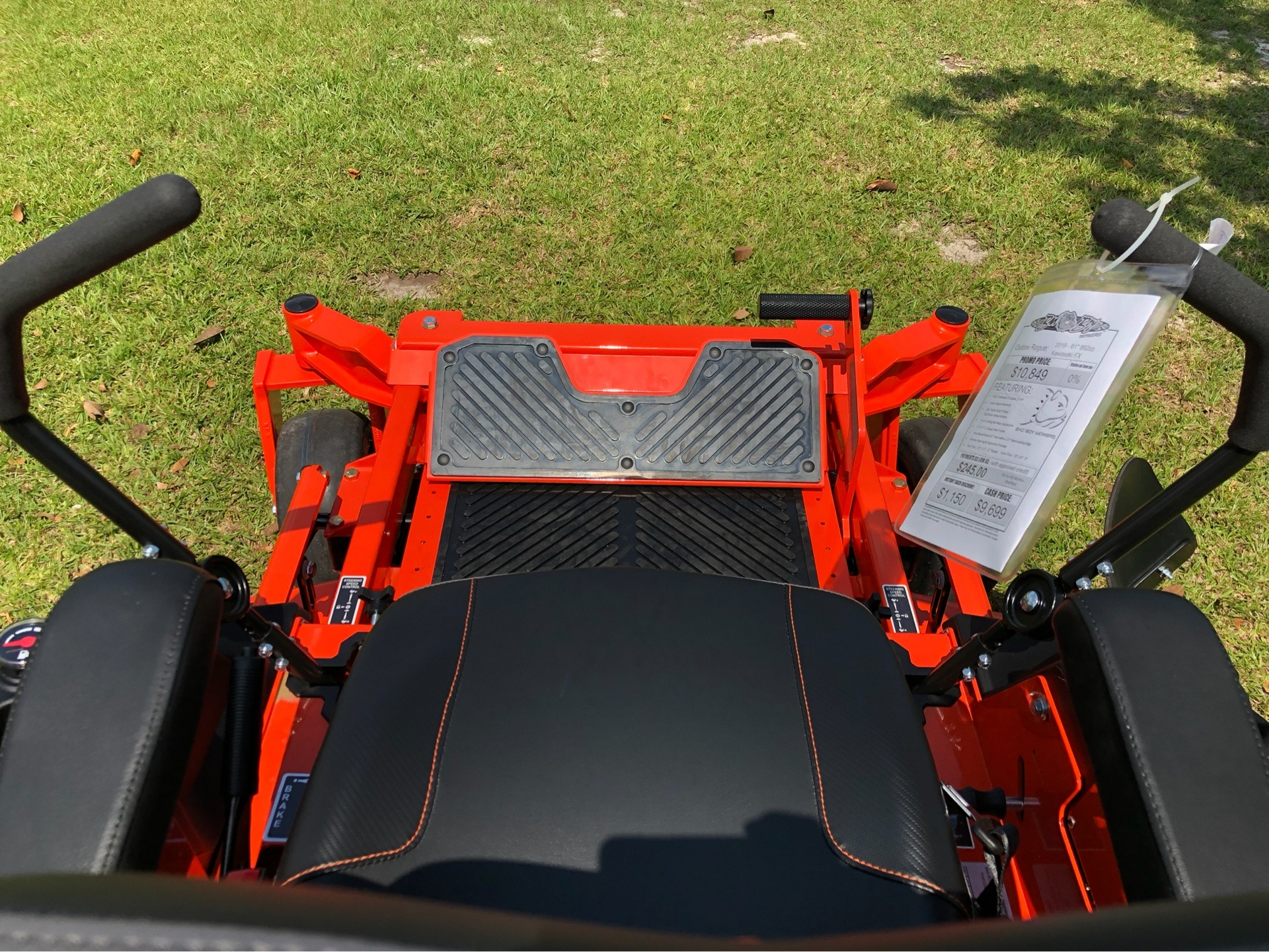 "2019 Bad Boy Mowers Rogue 61"" with 27hp Kawasaki in Saucier, Mississippi - Photo 10"
