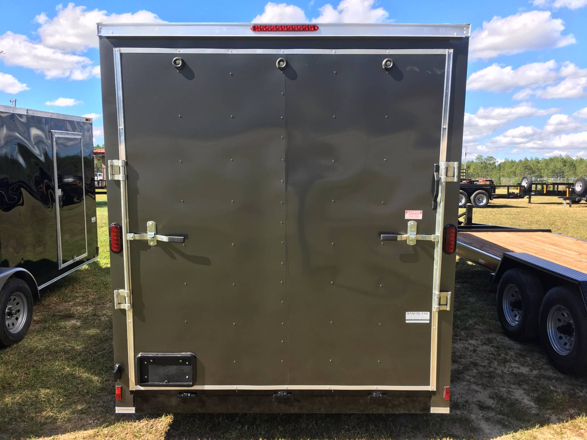 2018 Triple R Trailers 7x16 V-nose Charcoal - 1' Extra Height in Saucier, Mississippi