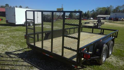 2017 Port City Trailers 7x14 Tube Top with Gate in Saucier, Mississippi