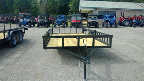 2017 Port City Trailers 7x14 SA Tube Top with Rear Gate and Side Loaders in Saucier, Mississippi