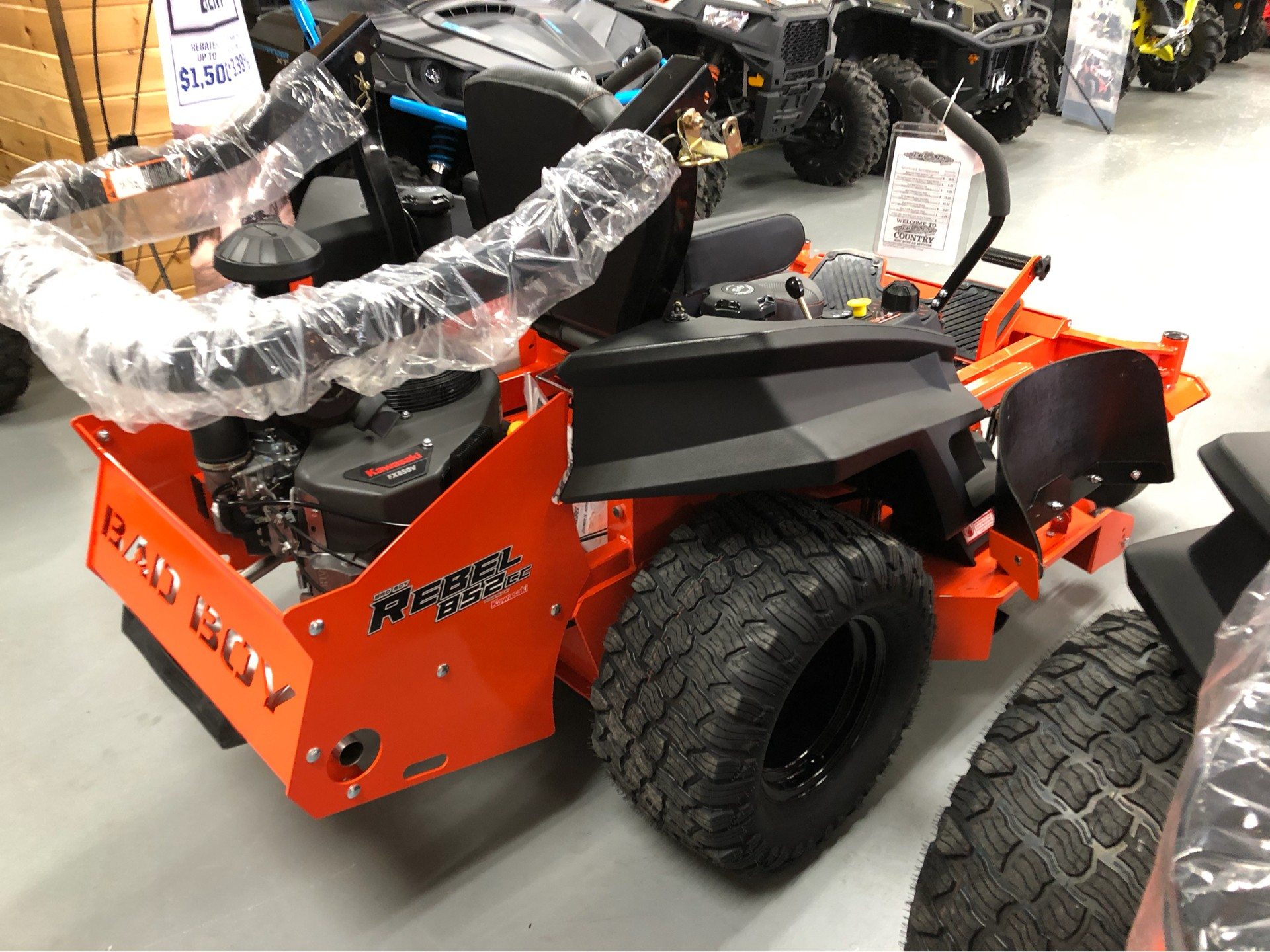 "2019 Bad Boy Mowers Rebel 54"" with 27hp Kawasaki  in Saucier, Mississippi - Photo 14"
