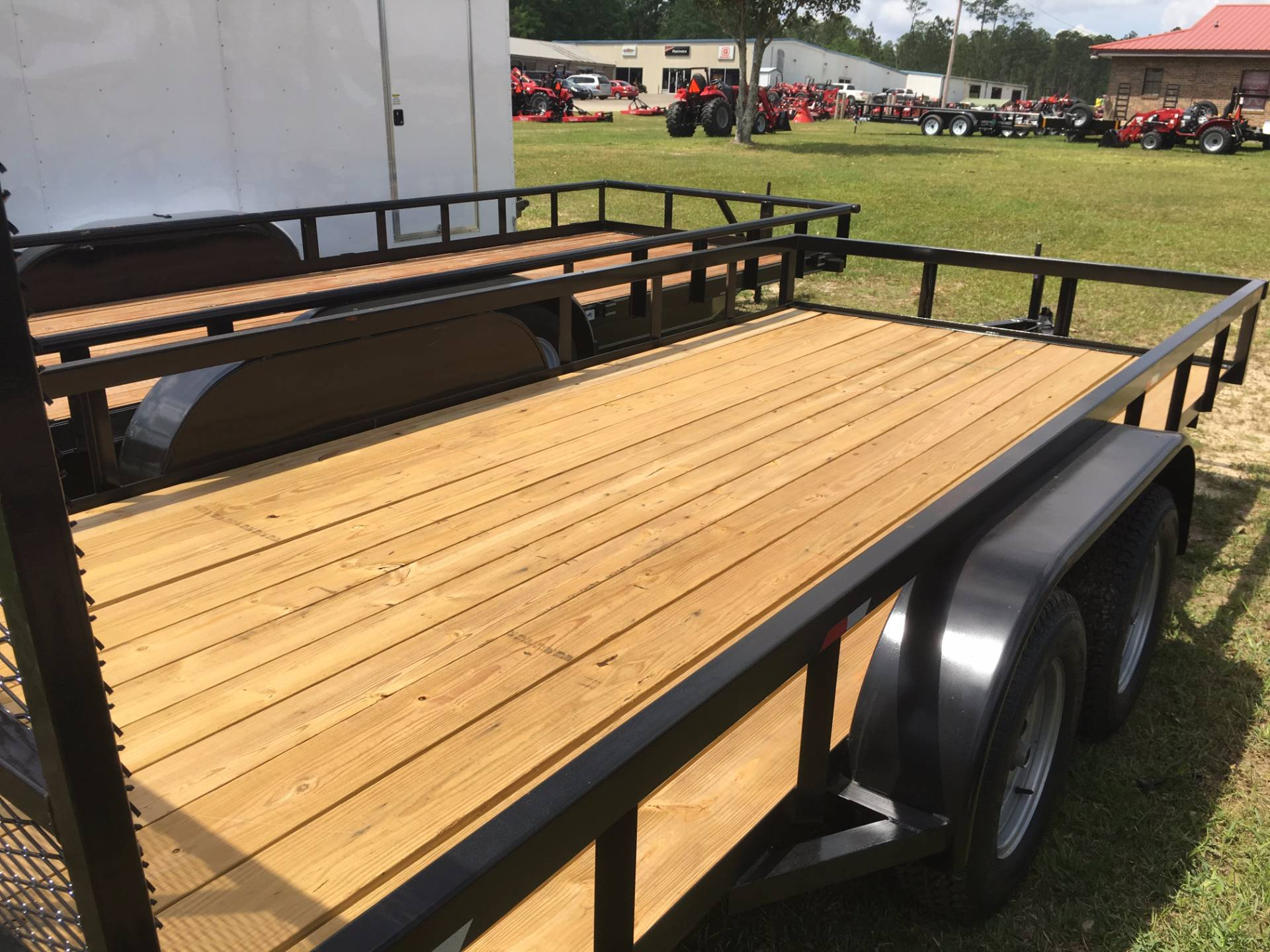 2017 Port City Trailers 7x16 Tube Top with Gate in Saucier, Mississippi