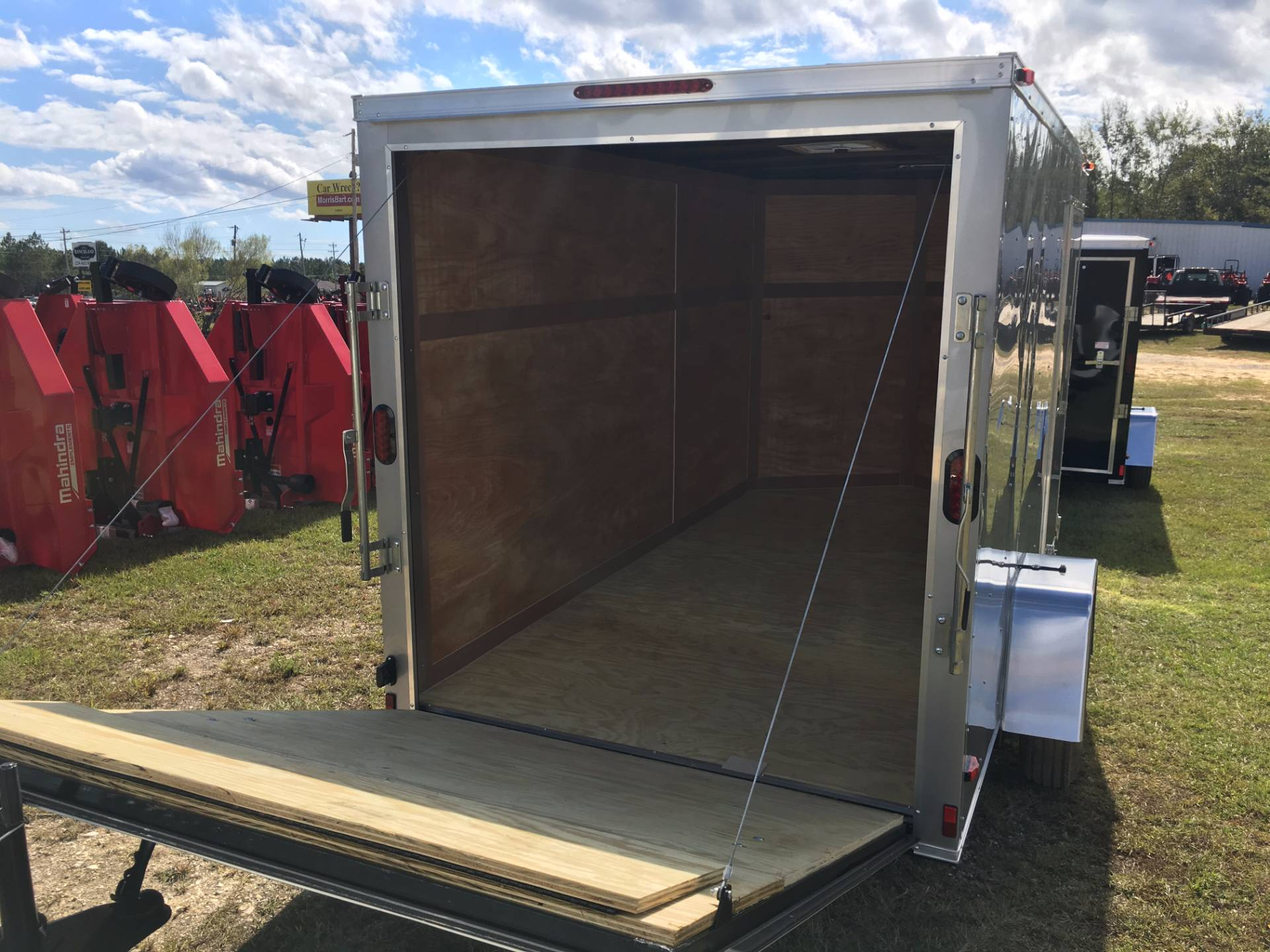 2018 Triple R Trailers 6x12 V-nose Silver in Saucier, Mississippi