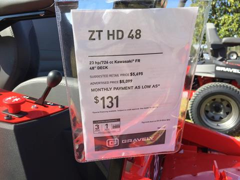 2018 Gravely USA ZT HD 48 (Kawasaki) in Saucier, Mississippi