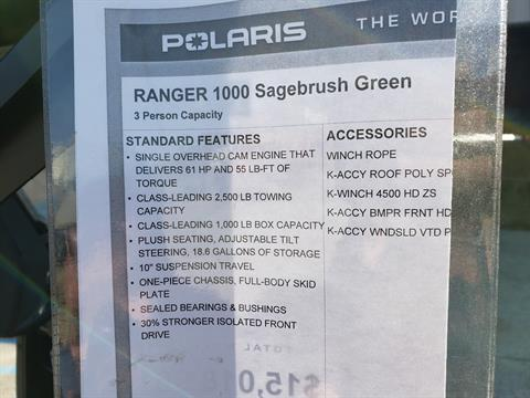 2021 Polaris Ranger 1000 in Saucier, Mississippi - Photo 15
