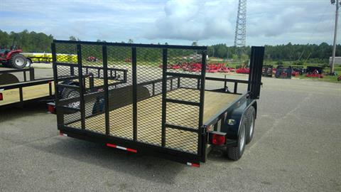 2017 Port City Trailers 7x14 Tube Top 7K with Rear Gate and Side Gate in Saucier, Mississippi