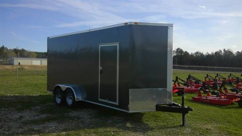 2017 Triple R Trailers 7x16 V-nose Charcoal in Saucier, Mississippi