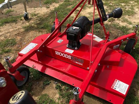 2020 Woods RD60 Rear Mount Finish Mower in Saucier, Mississippi - Photo 3
