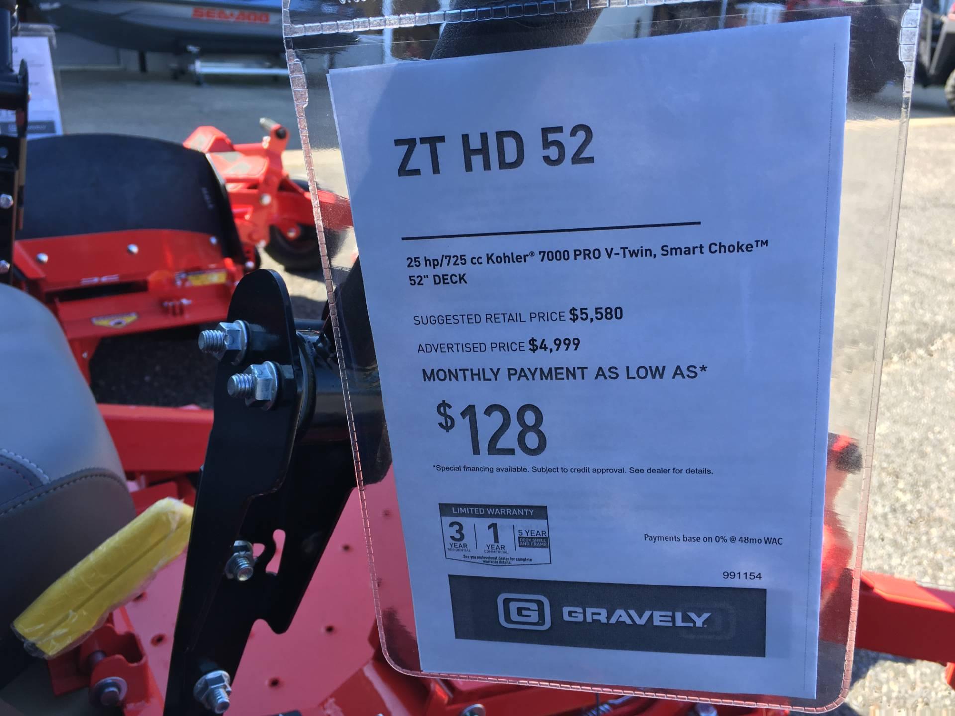 New 2018 Gravely USA ZT HD 52 (Kohler) Lawn Mowers in Saucier, MS ...