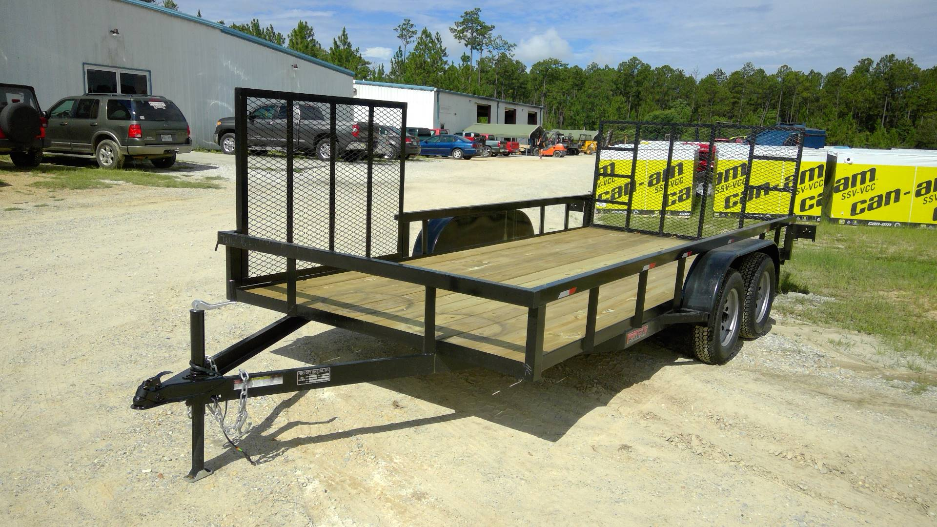 2017 Port City Trailers 7x16 Tube Top with Rear Gate and Side Gate in Saucier, Mississippi