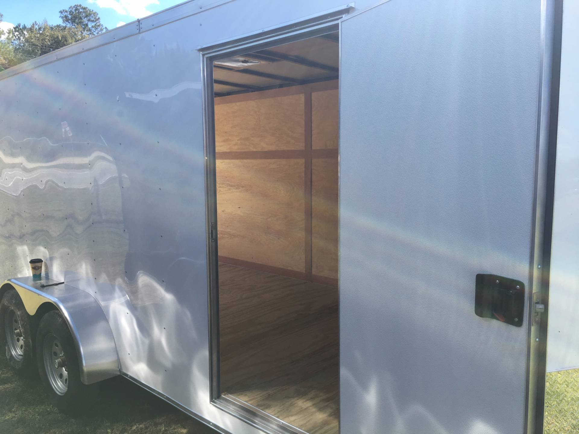 2018 Triple R Trailers 7x16 V-nose White in Saucier, Mississippi