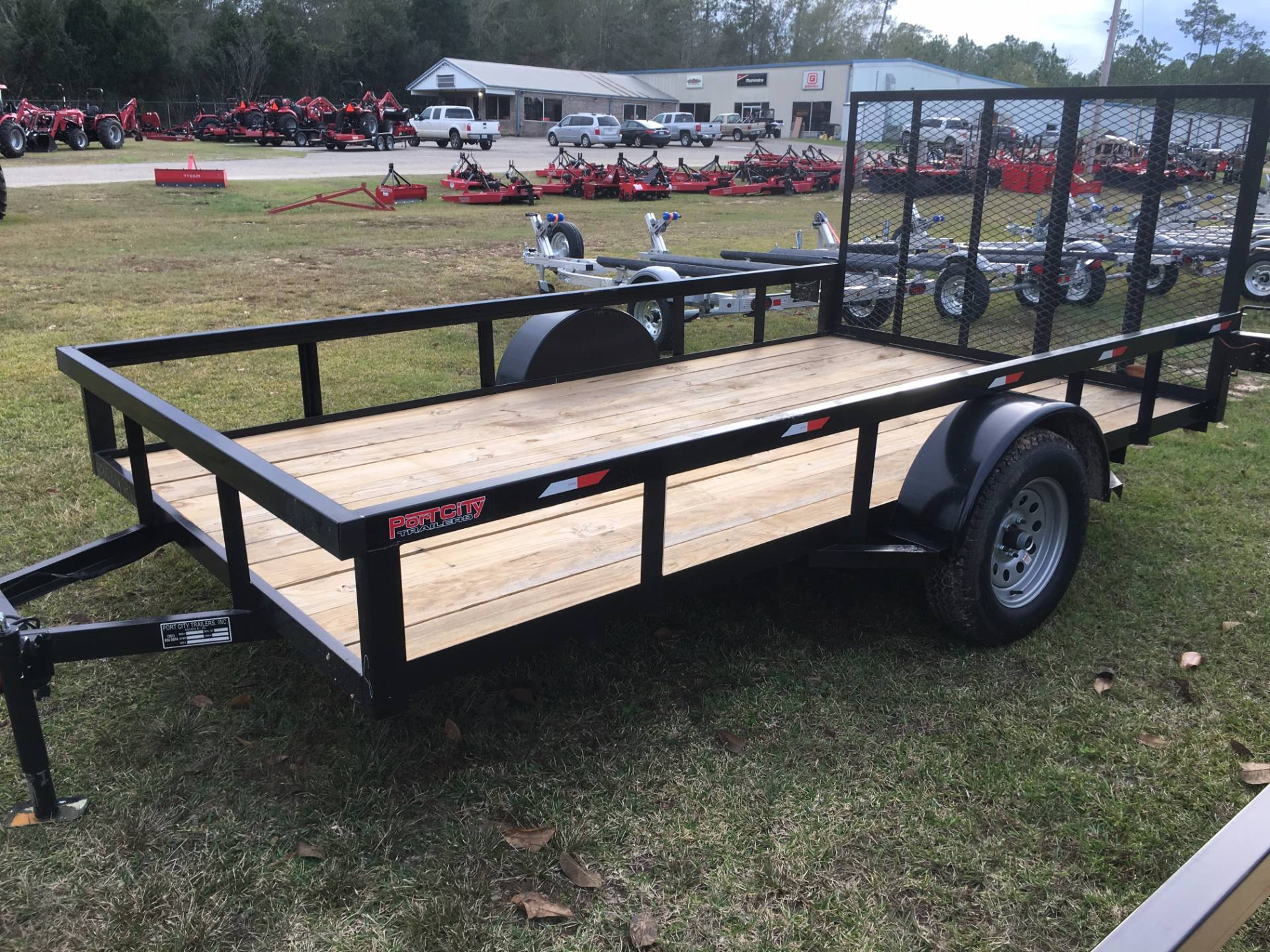 2016 Port City Trailers 6.5' x 12' Tube Top Trailer with Gate in Saucier, Mississippi
