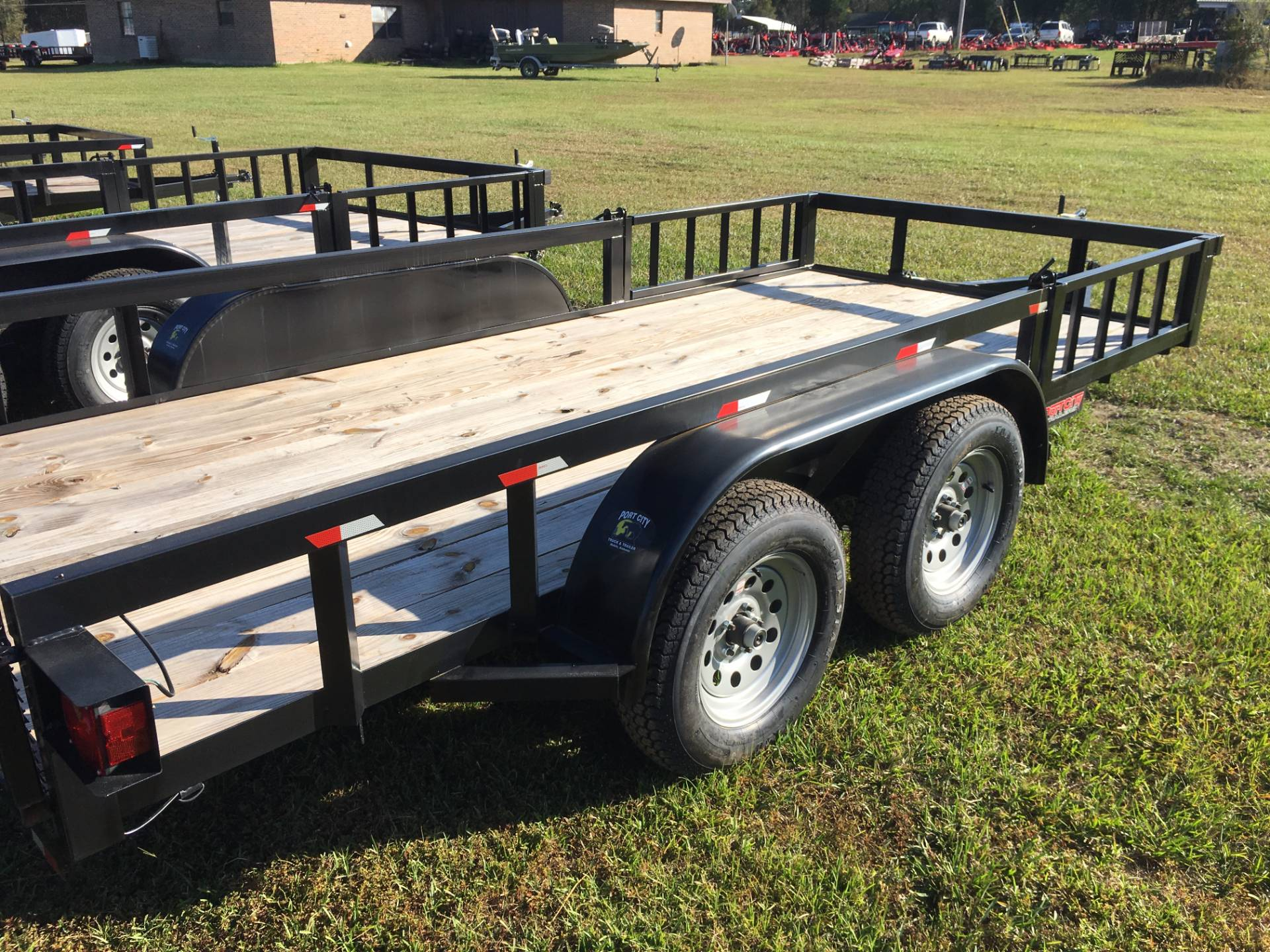 2017 Port City Trailers 6x14 Tube Top with Gate in Saucier, Mississippi