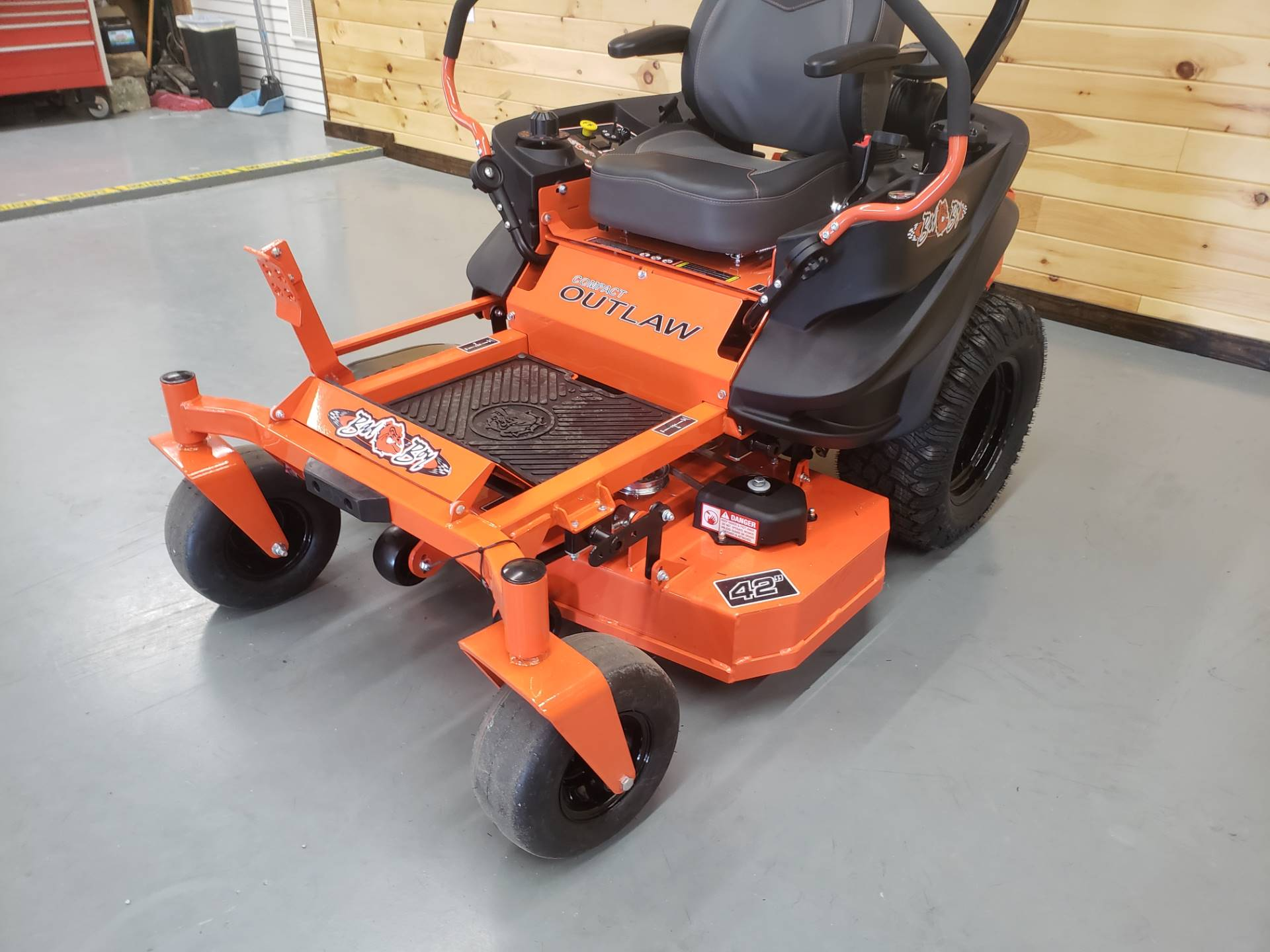 "2019 Bad Boy Mowers Outlaw Compact 42"" with Kawasaki FX691 in Saucier, Mississippi - Photo 3"