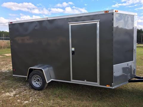 2018 Triple R Trailers 6x12 V-nose Charcoal in Saucier, Mississippi