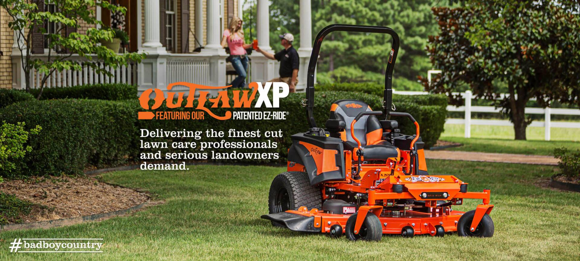 2017 Bad Boy Mowers Outlaw XP with Yamaha EFI in Saucier, Mississippi