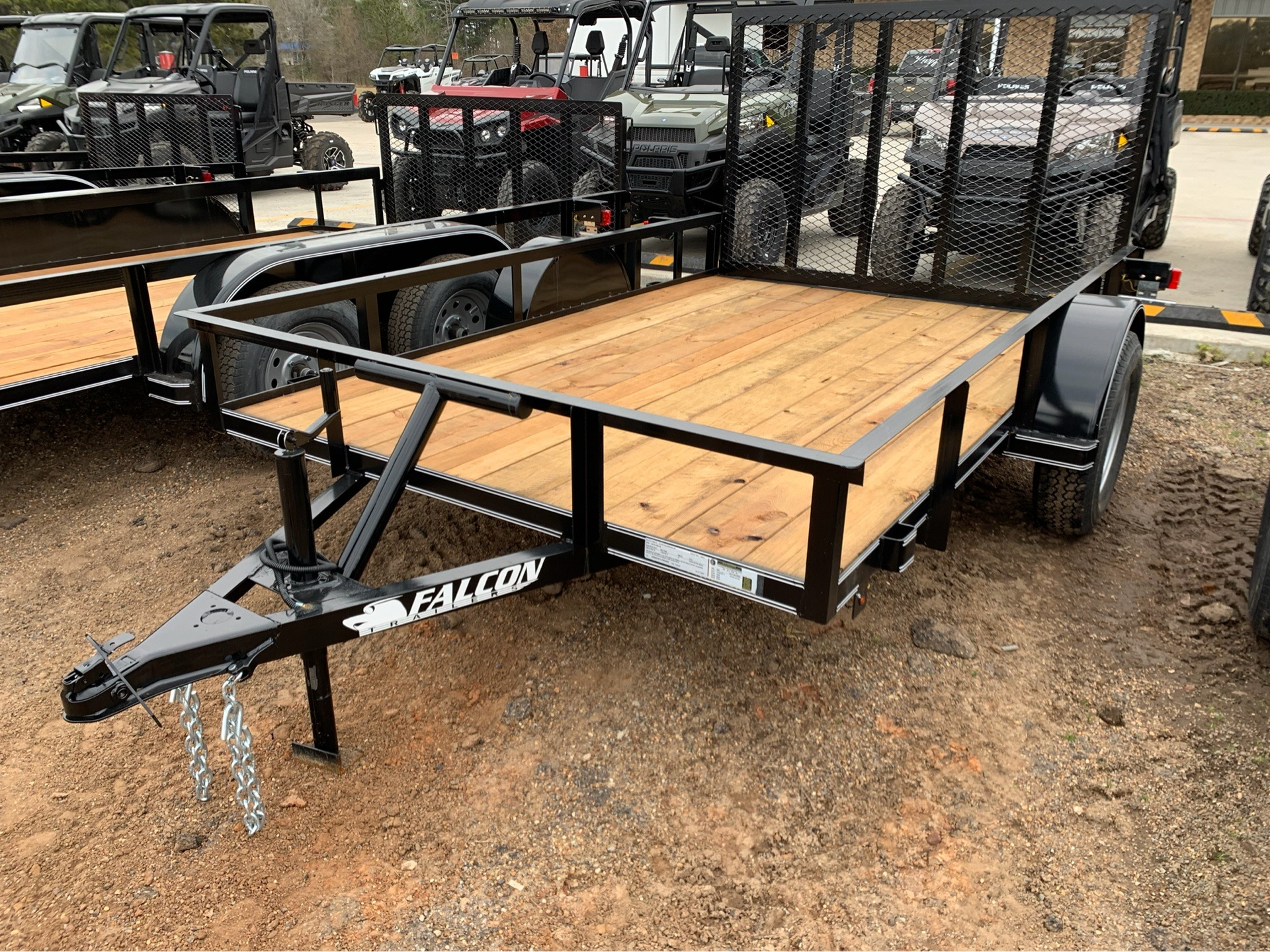 "2018 Falcon TrailerWorks 77"" X 10' Single Axle in Marshall, Texas"