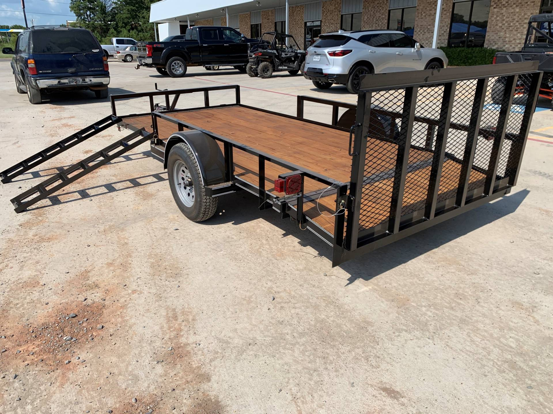 "2020 Falcon TrailerWorks 77"" X 14' Single Axle ATV Side Gate in Marshall, Texas - Photo 2"