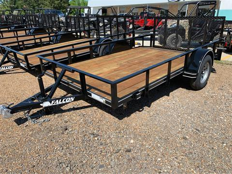 "2019 Falcon TrailerWorks 77"" X 12' Single Axle in Marshall, Texas - Photo 1"