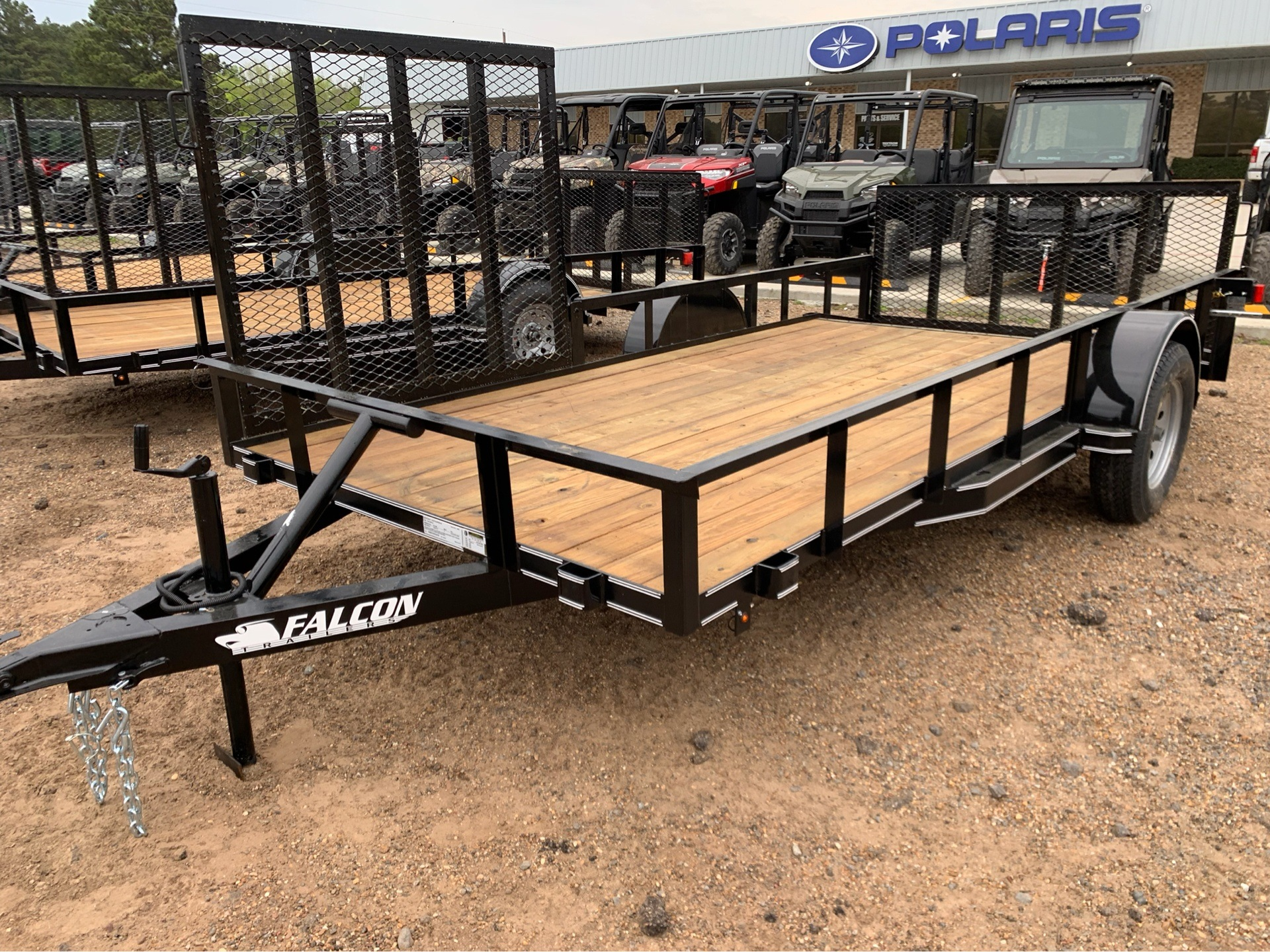 "2019 Falcon TrailerWorks 77"" X 14' Single Axle ATV Side Gate in Marshall, Texas - Photo 1"