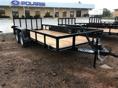 "2018 Falcon TrailerWorks 77"" X 16' Stanard Duty in Marshall, Texas"