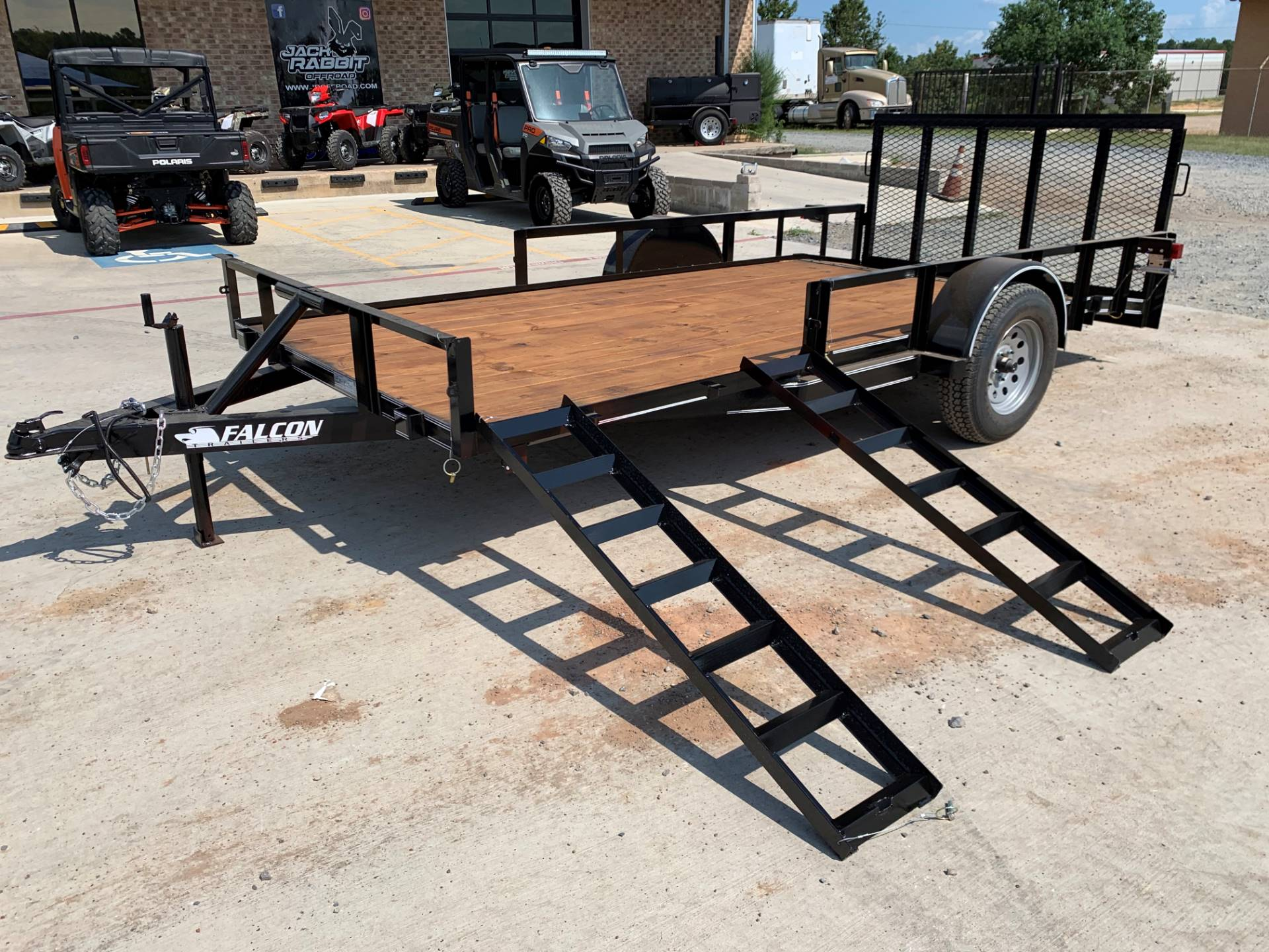 "2021 Falcon TrailerWorks 77"" X 14' Single Axle ATV Side Gate in Marshall, Texas - Photo 1"