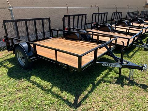 "2019 Falcon TrailerWorks 77"" X 10' Single Axle in Marshall, Texas"