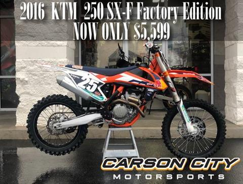 2016 KTM 250 SX-F Factory Edition in Carson City, Nevada