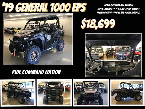 2019 Polaris General 1000 EPS Ride Command Edition in Beaver Falls, Pennsylvania - Photo 1