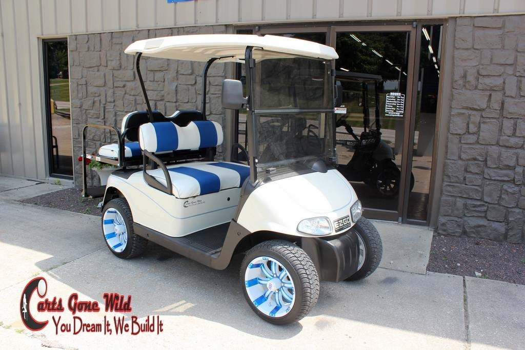 2013 EZGO 48 Volt RXV Golf Cart Golf Carts Haubstadt Indiana  Ezgo Rxv Golf Cart White on lincoln on a rail cart, 2013 ezgo txt, 2013 ezgo electric golf cart,