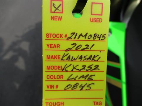 2021 Kawasaki KX 250 in Howell, Michigan - Photo 18
