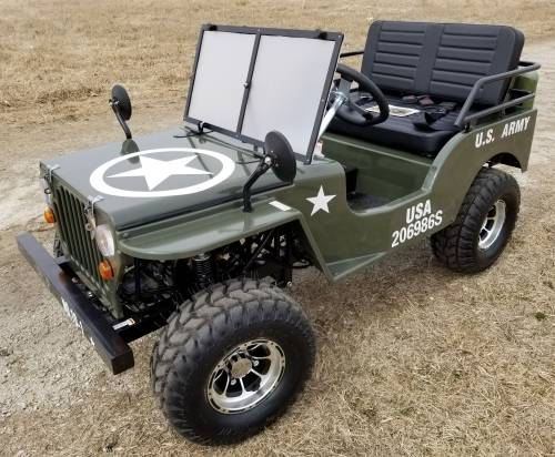 2020 Icebear Thunderbird 125cc Mini Jeep Willys Edition in Howell, Michigan - Photo 1