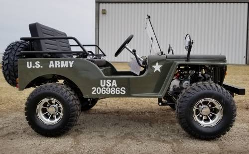 2020 Icebear Thunderbird 125cc Mini Jeep Willys Edition in Howell, Michigan - Photo 4