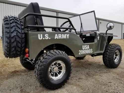 2020 Icebear Thunderbird 125cc Mini Jeep Willys Edition in Howell, Michigan - Photo 6