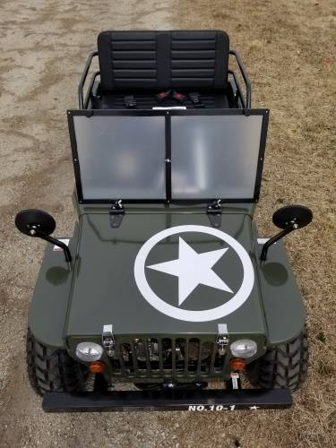2020 Icebear Thunderbird 125cc Mini Jeep Willys Edition in Howell, Michigan - Photo 10