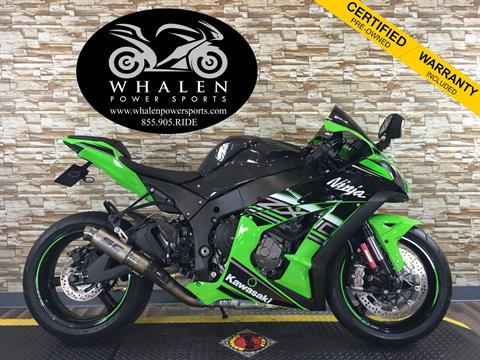 2016 Kawasaki Ninja ZX-10R ABS KRT Edition in Port Charlotte, Florida