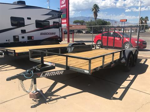 "2020 LAMAR Trailers Inc 83""x16ft tandem axle in Safford, Arizona"