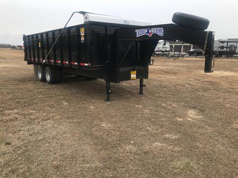 2019 Texas Bragg 8X20 GOOSENECK DUMP TRAILER in Durant, Oklahoma - Photo 1