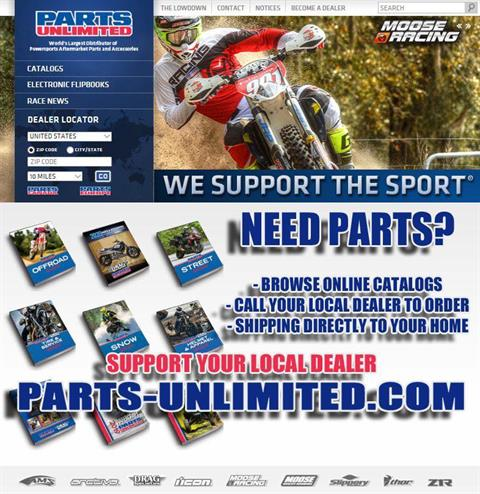 Need Parts ? Shop Online - Parts Unlimited Catalogs - FREE SHIPPING and Local Curb Side Pickup