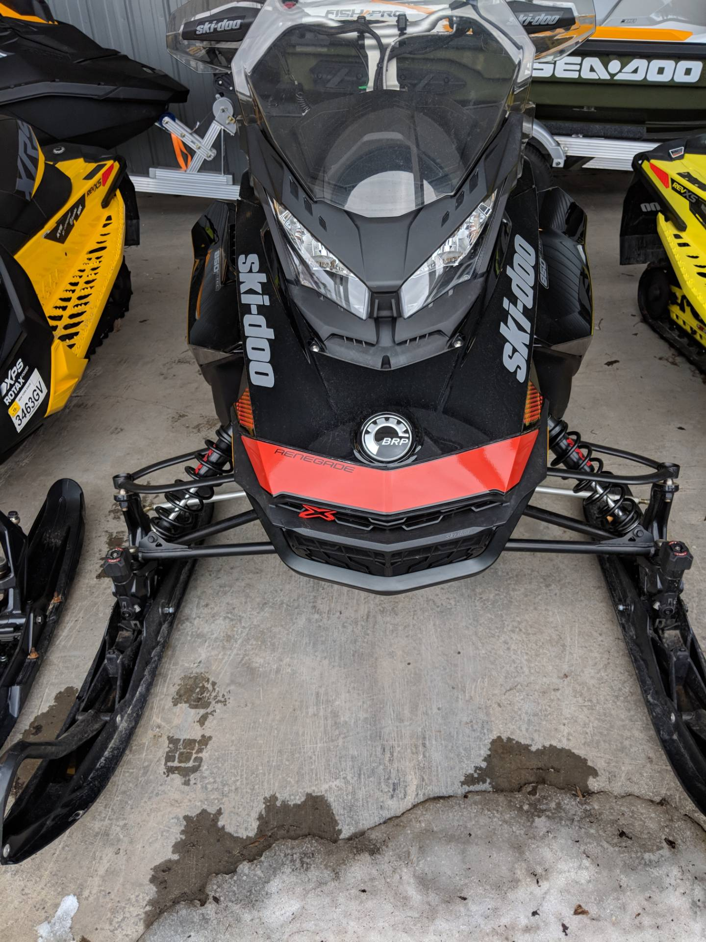 2018 Ski-Doo Renegade X 850 E-TEC ES w/ Adj. Pkg Ice Ripper XT 1.25 in Phoenix, New York - Photo 1