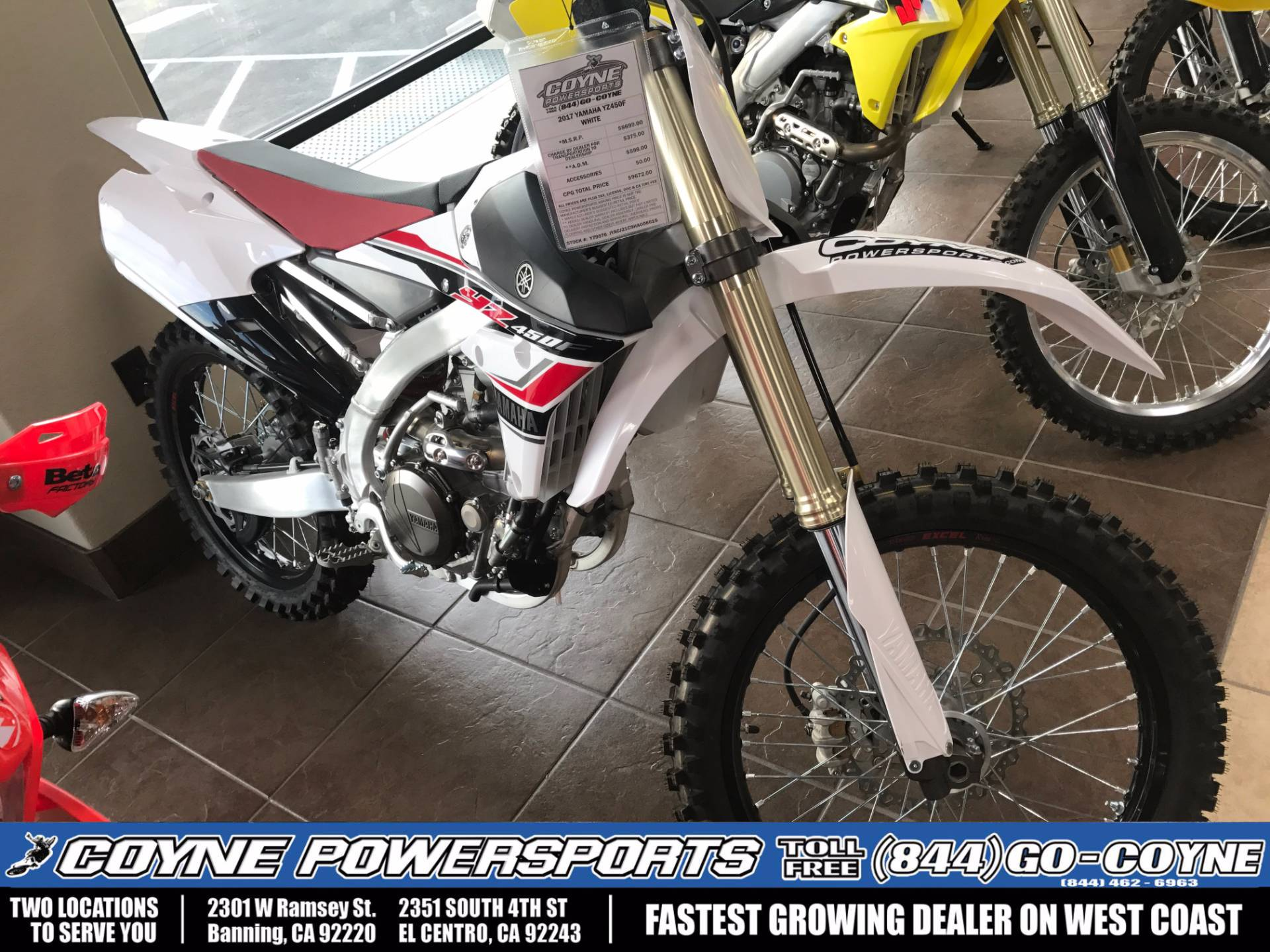 2017 Yamaha YZ450F for sale 460