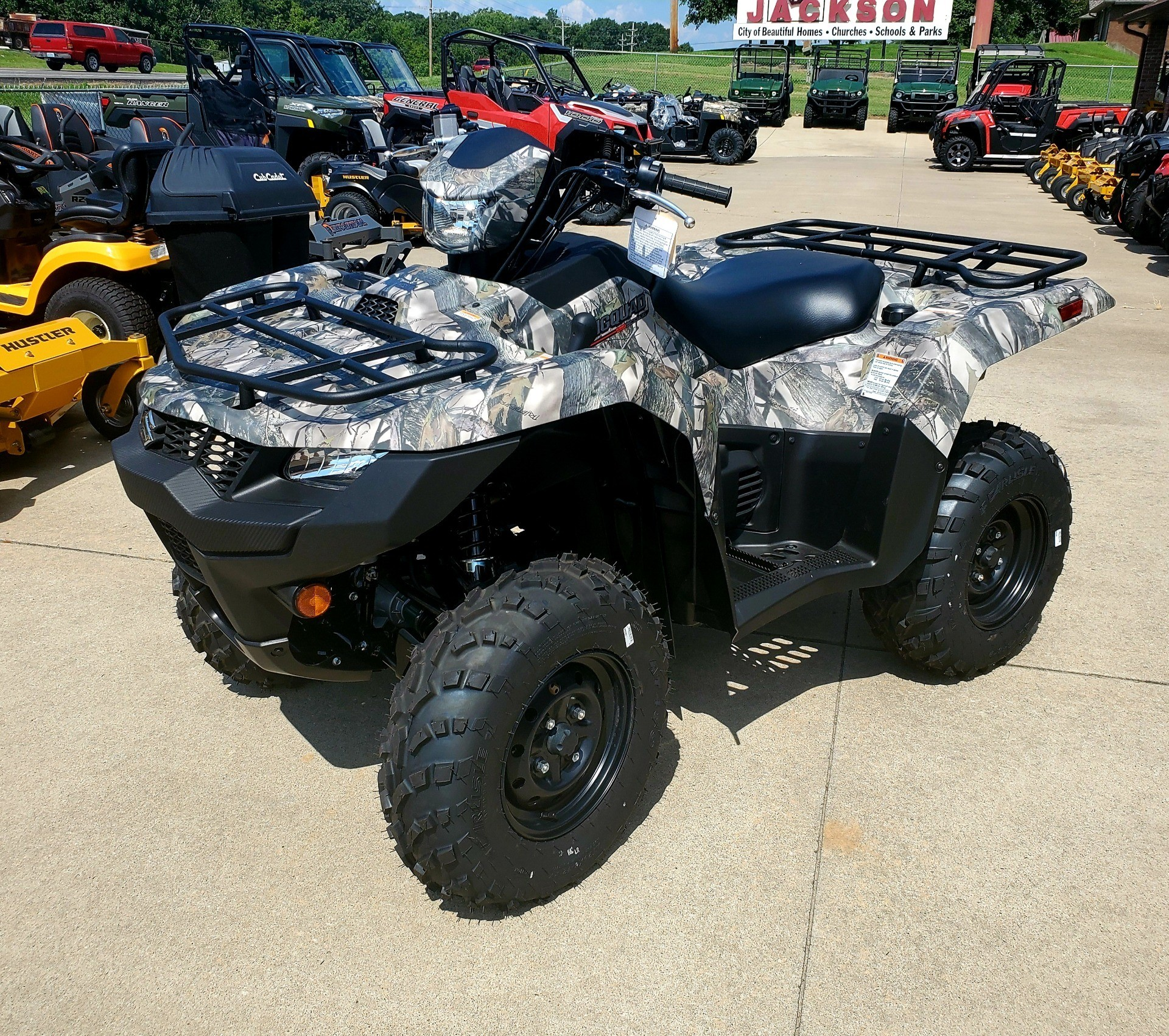 2019 Suzuki KingQuad 500AXi Power Steering Camo in Jackson, Missouri - Photo 1