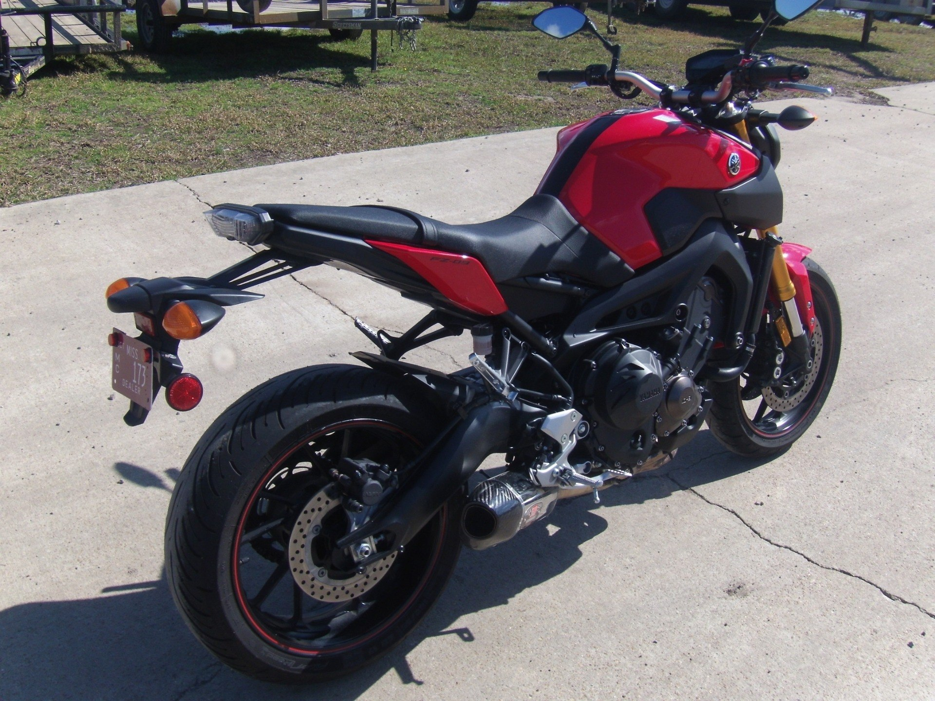 new 2014 yamaha fz 09 motorcycles in leland ms stock number y03997. Black Bedroom Furniture Sets. Home Design Ideas